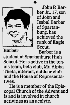 Spartanburg Herald Journal, 10 October 2004, page B7